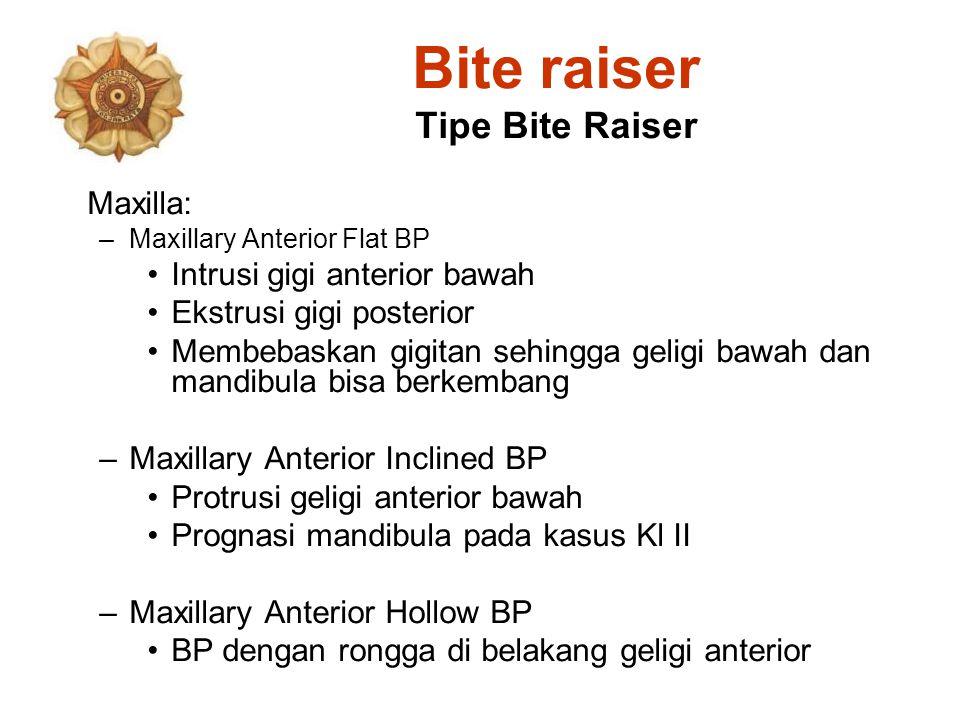 Bite raiser Tipe Bite Raiser