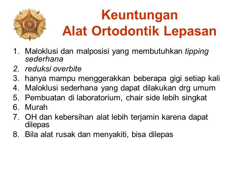 Keuntungan Alat Ortodontik Lepasan