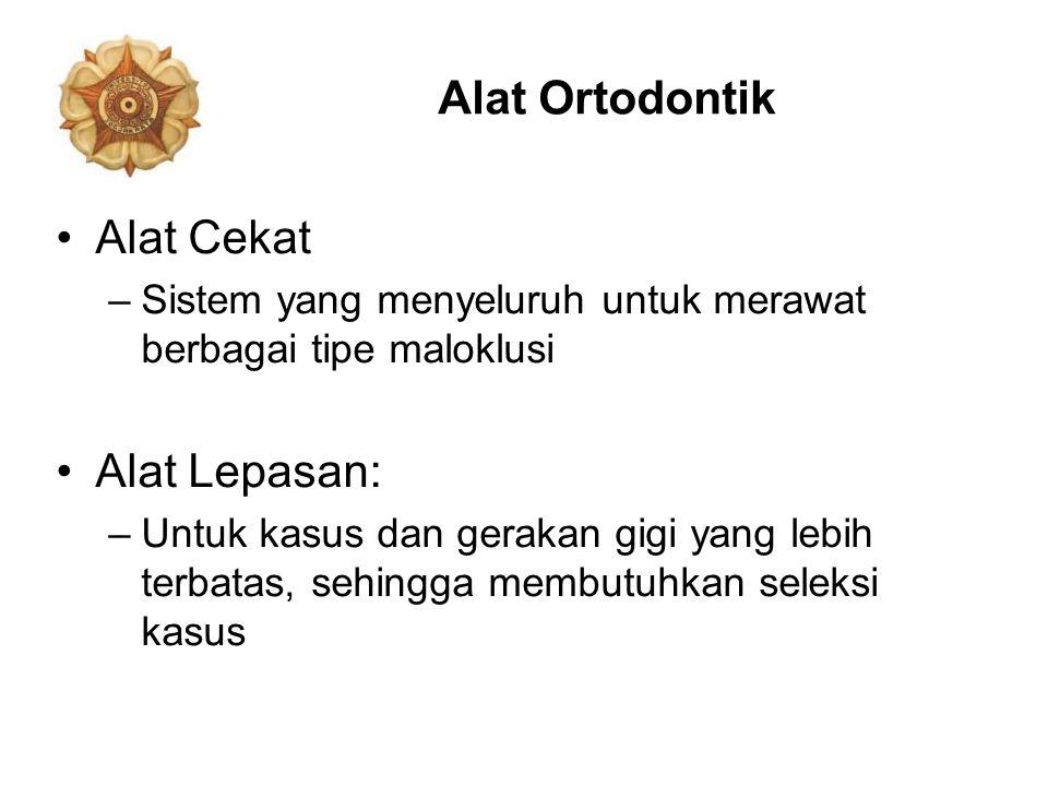 Alat Ortodontik Alat Cekat Alat Lepasan: