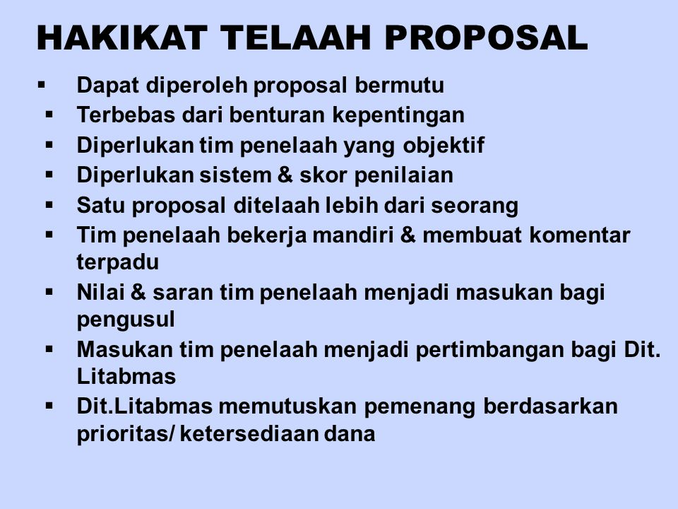 HAKIKAT TELAAH PROPOSAL