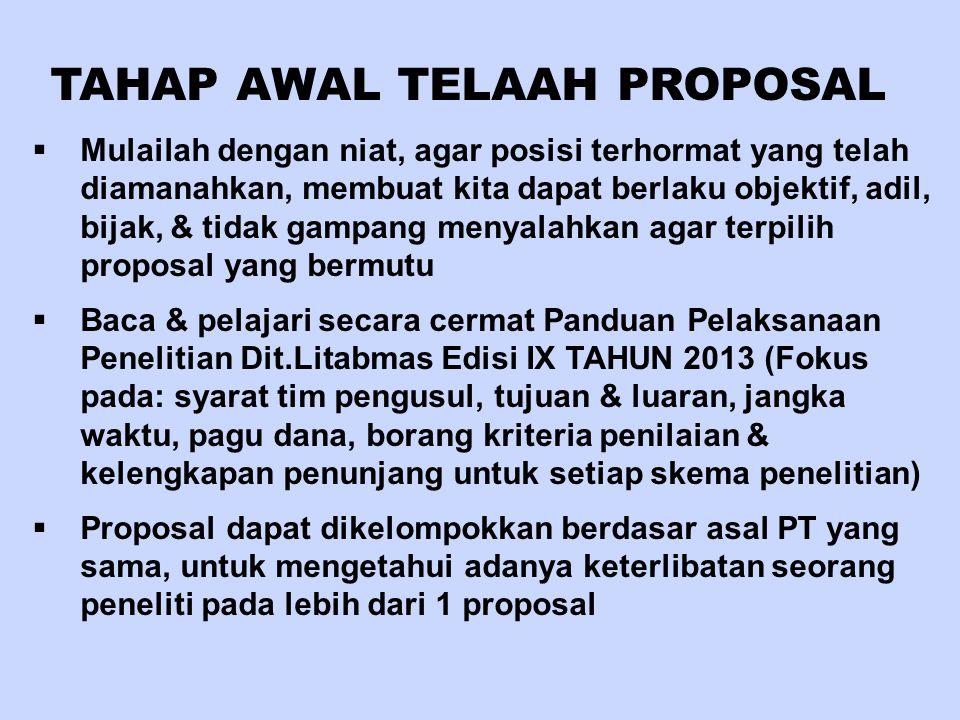 TAHAP AWAL TELAAH PROPOSAL