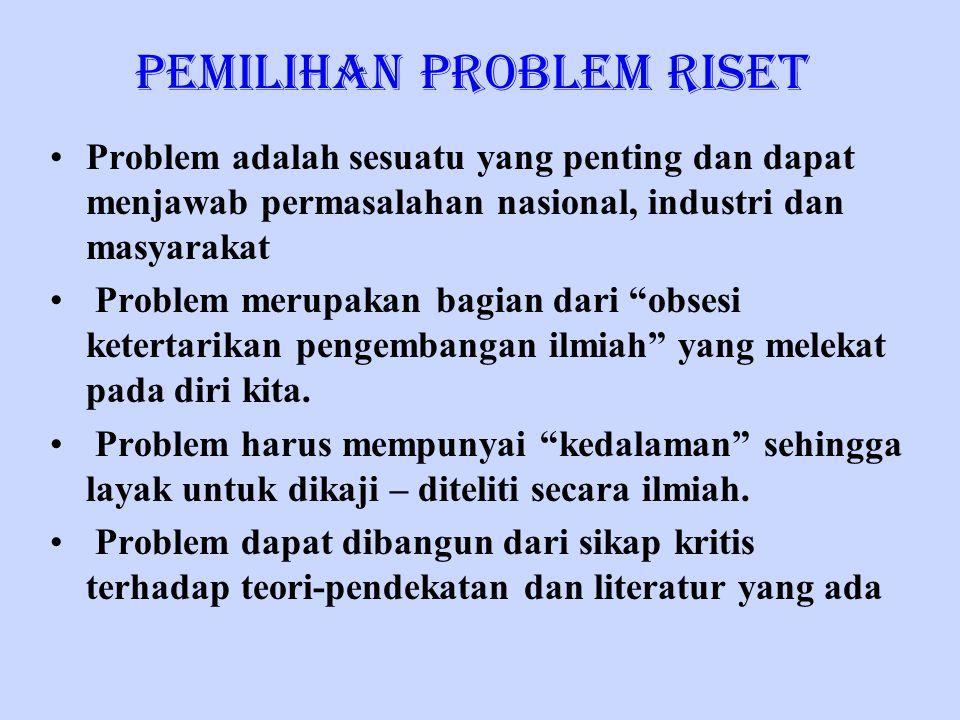 Pemilihan Problem Riset