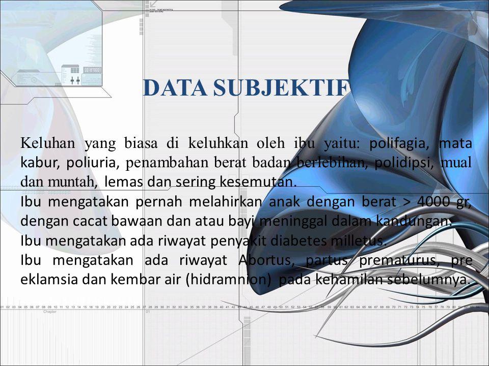 DATA SUBJEKTIF