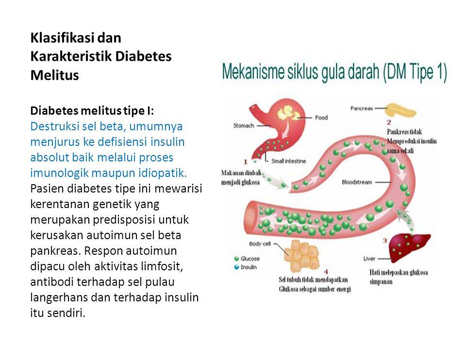 Klasifikasi dan Karakteristik Diabetes Melitus