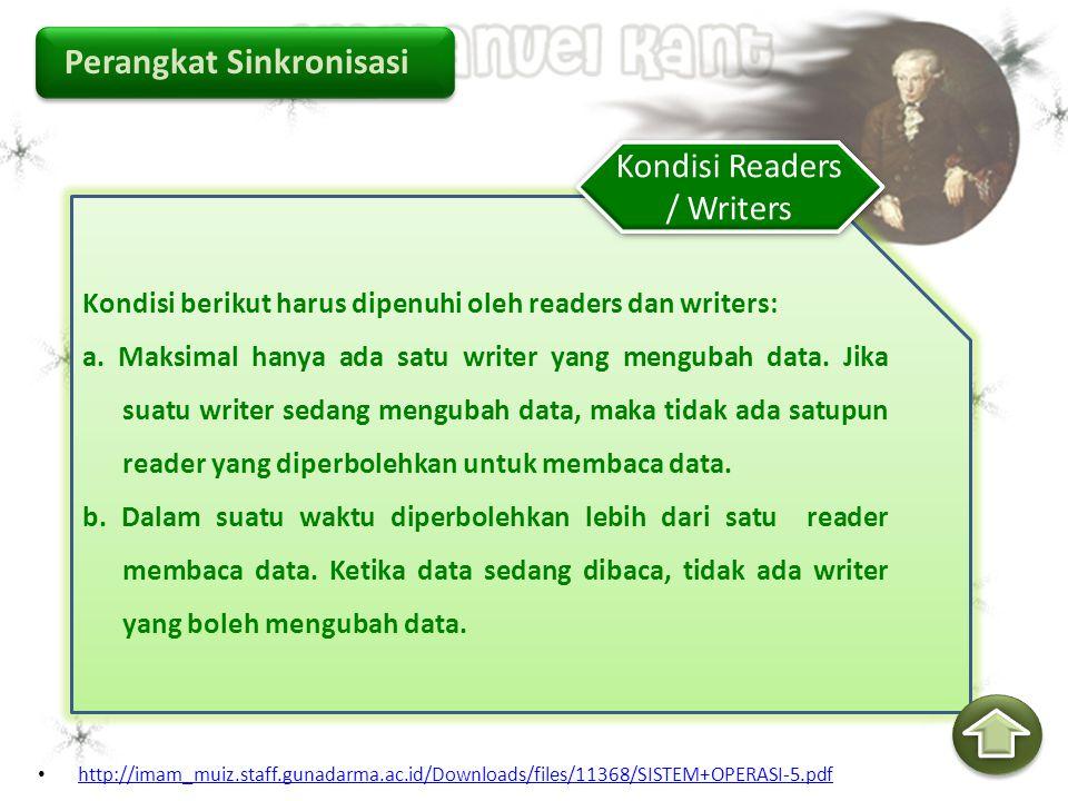 Kondisi Readers / Writers