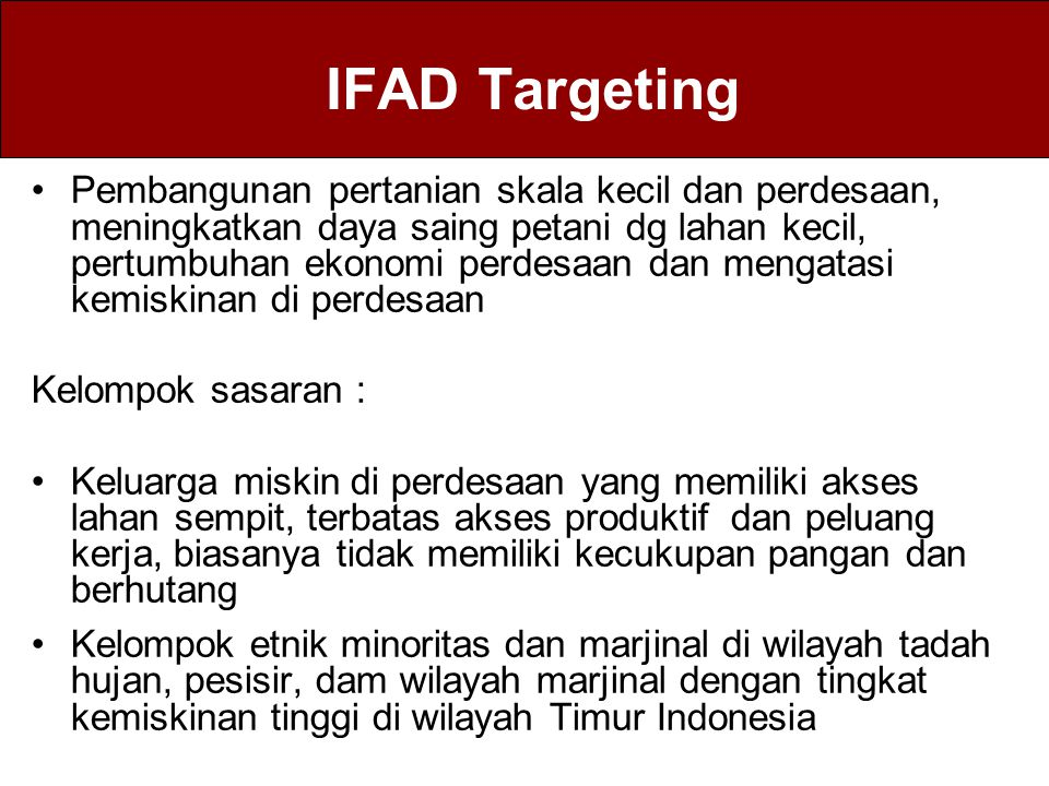 IFAD Targeting