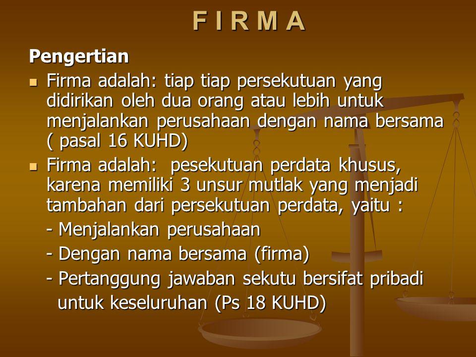F I R M A Pengertian.