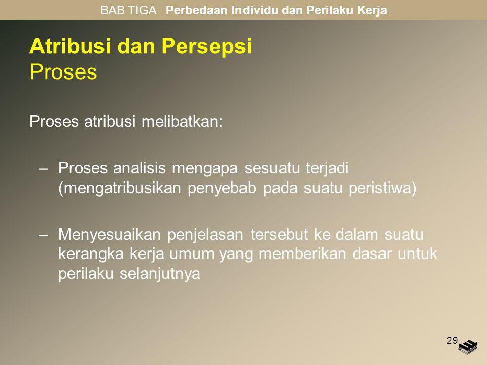 Atribusi dan Persepsi Proses