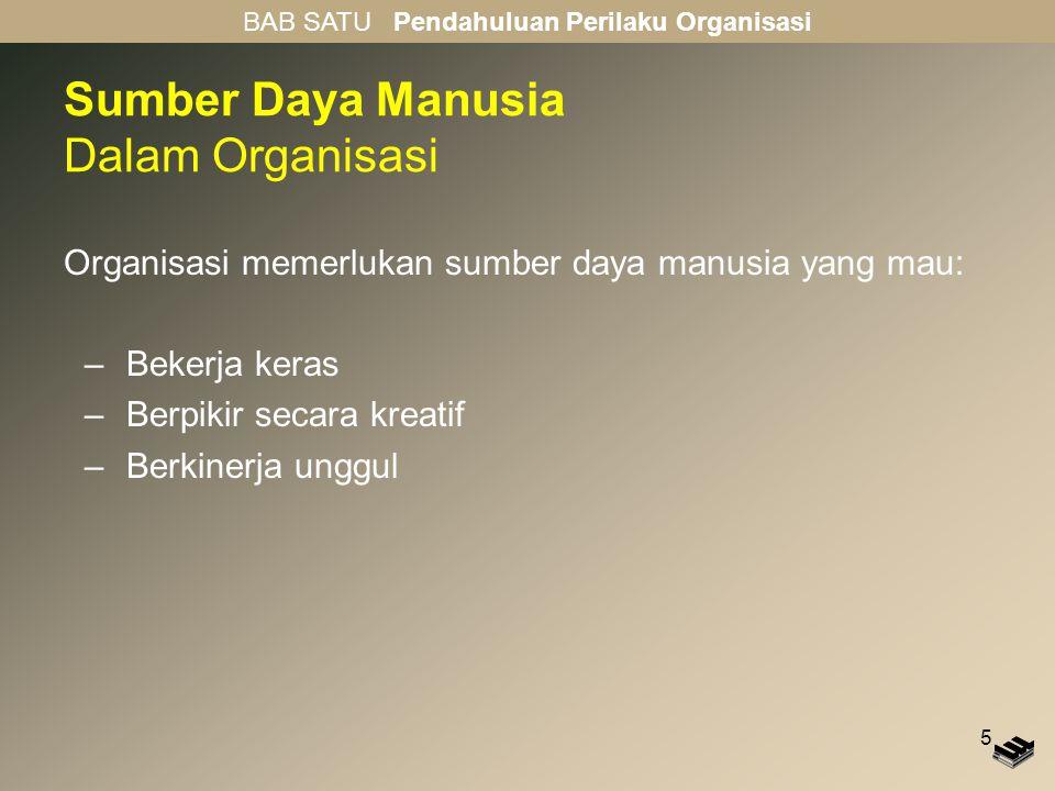 Sumber Daya Manusia Dalam Organisasi