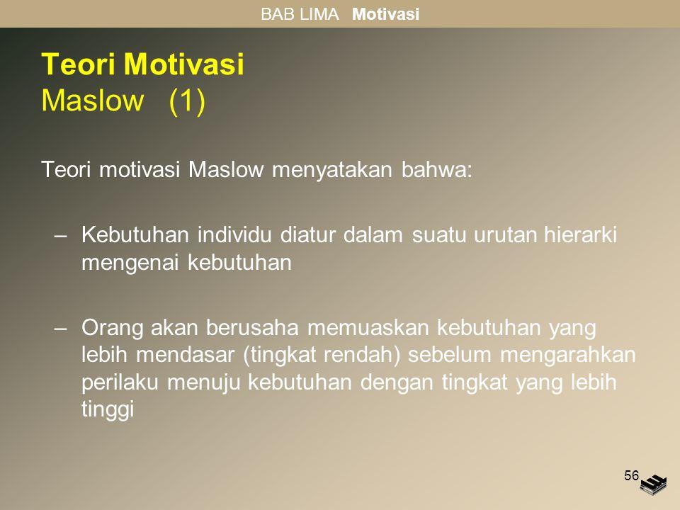Teori Motivasi Maslow (1)