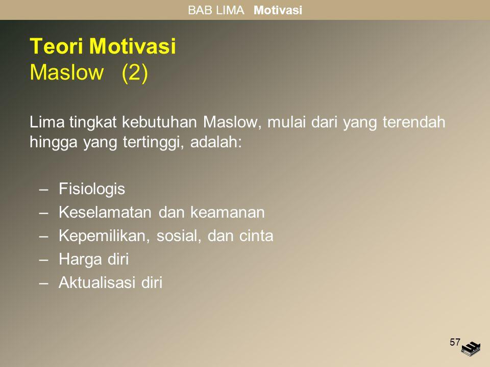 Teori Motivasi Maslow (2)