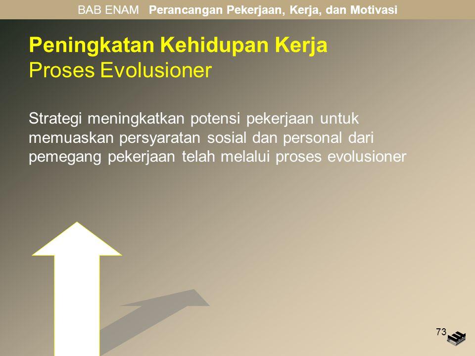 Peningkatan Kehidupan Kerja Proses Evolusioner