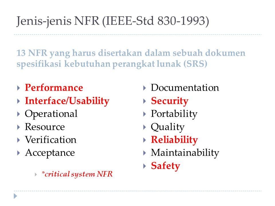 Jenis-jenis NFR (IEEE-Std 830-1993)
