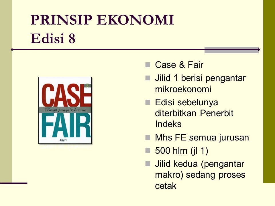 PRINSIP EKONOMI Edisi 8 Case & Fair