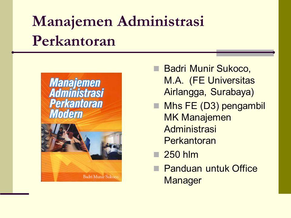Manajemen Administrasi Perkantoran