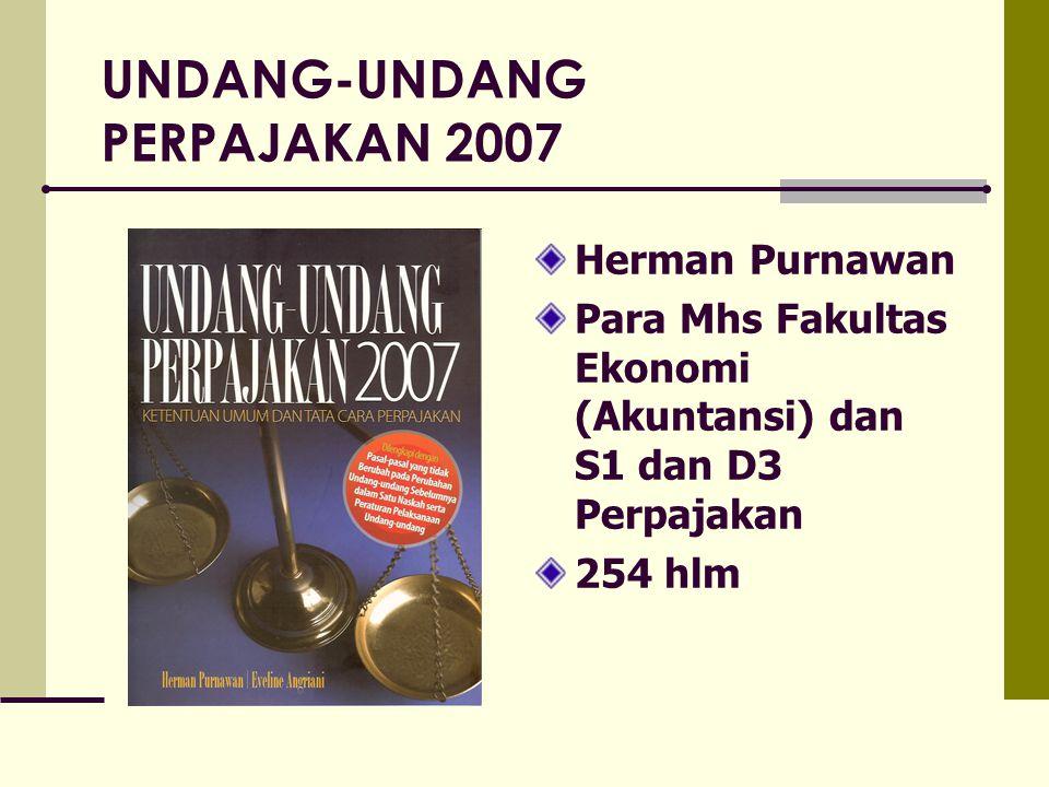 UNDANG-UNDANG PERPAJAKAN 2007