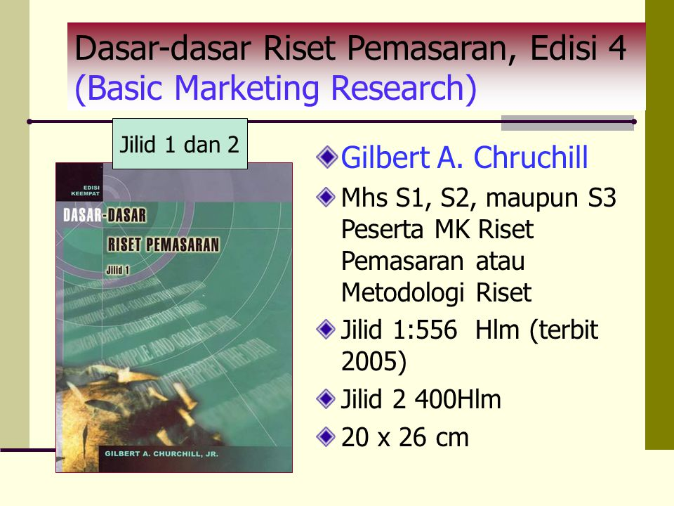 Dasar-dasar Riset Pemasaran, Edisi 4 (Basic Marketing Research)