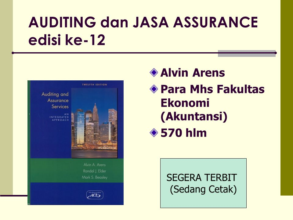 AUDITING dan JASA ASSURANCE edisi ke-12