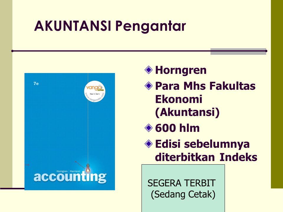 AKUNTANSI Pengantar Horngren Para Mhs Fakultas Ekonomi (Akuntansi)