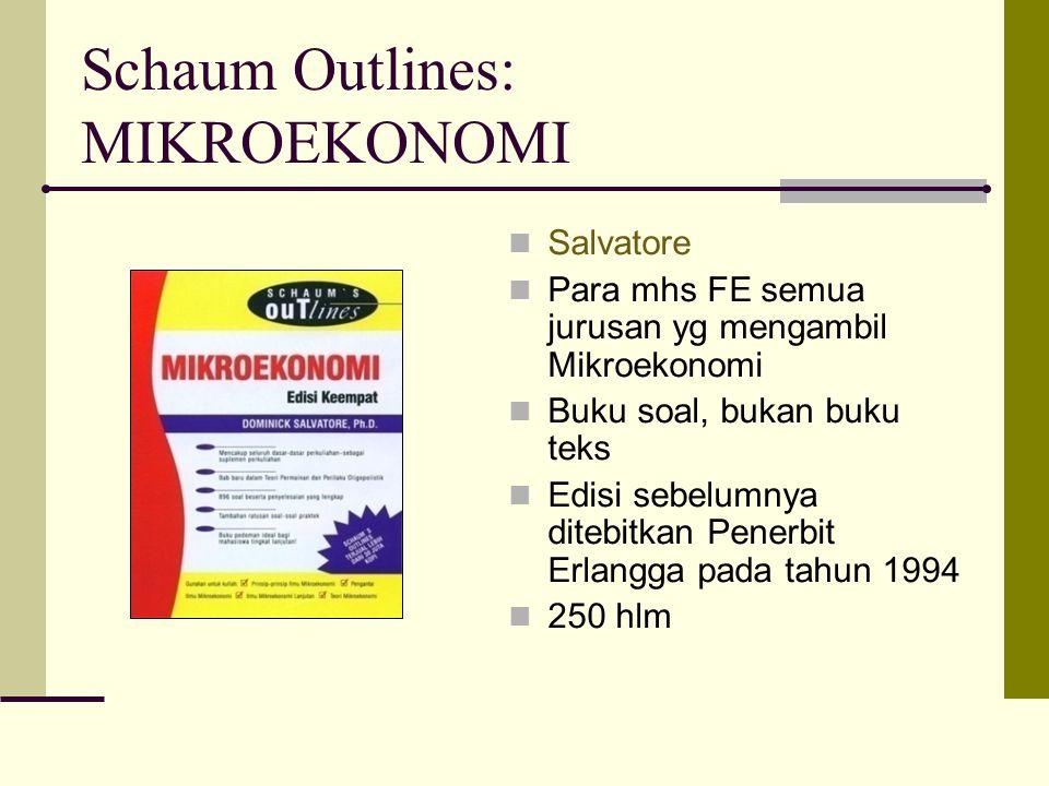 Schaum Outlines: MIKROEKONOMI