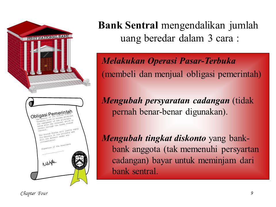 Bank Sentral mengendalikan jumlah uang beredar dalam 3 cara :