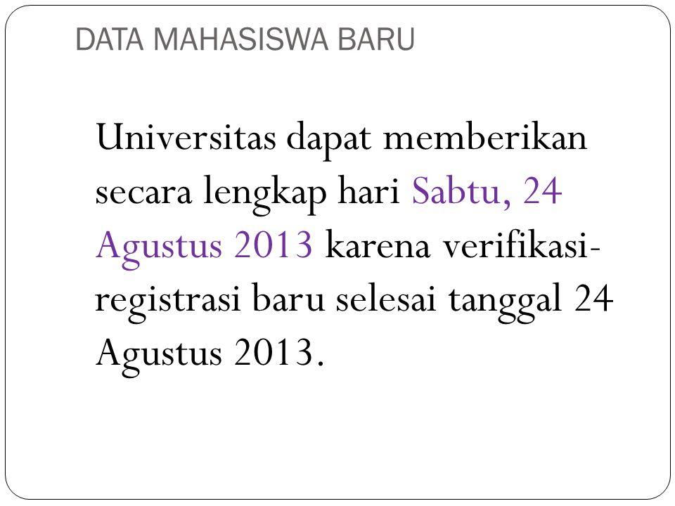 DATA MAHASISWA BARU