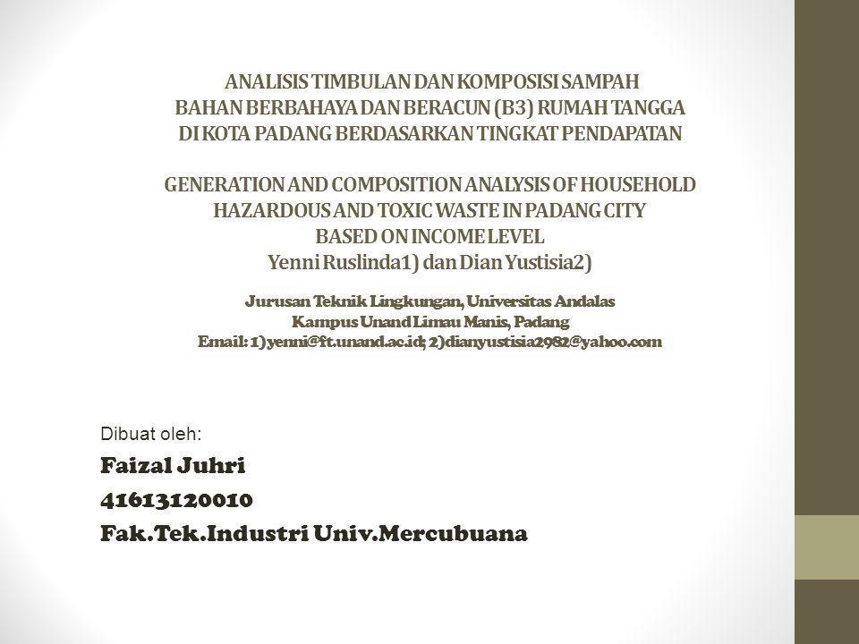 Dibuat oleh: Faizal Juhri 41613120010 Fak.Tek.Industri Univ.Mercubuana