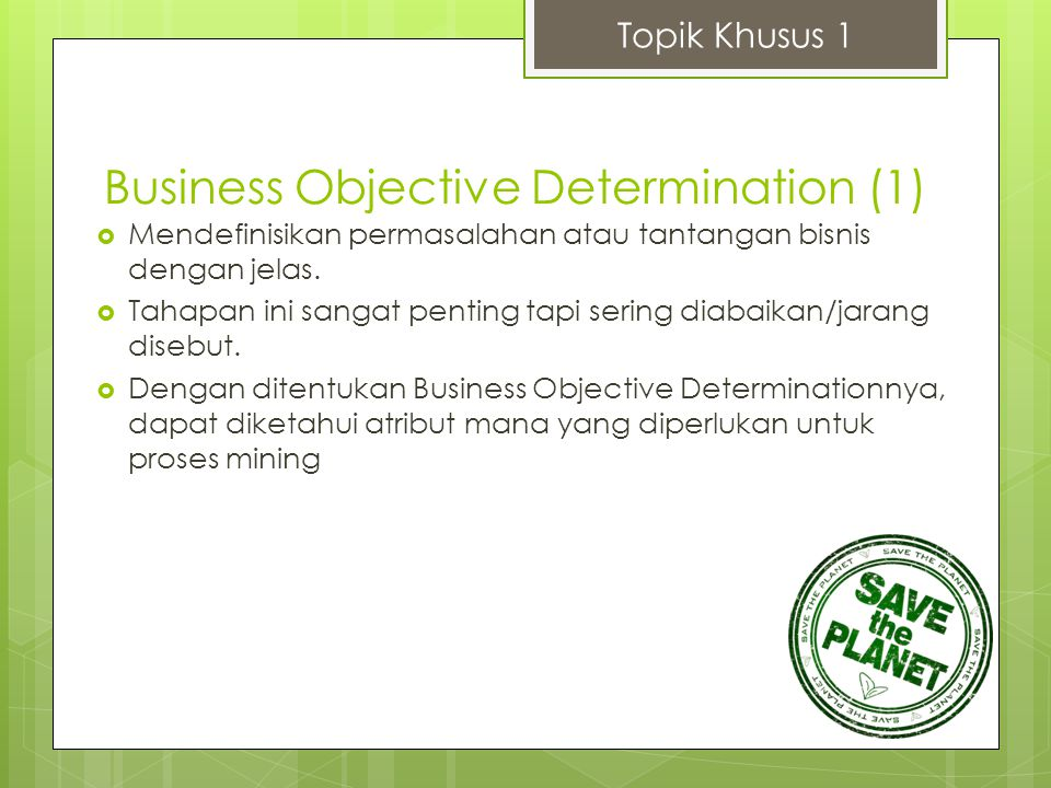 Business Objective Determination (1)