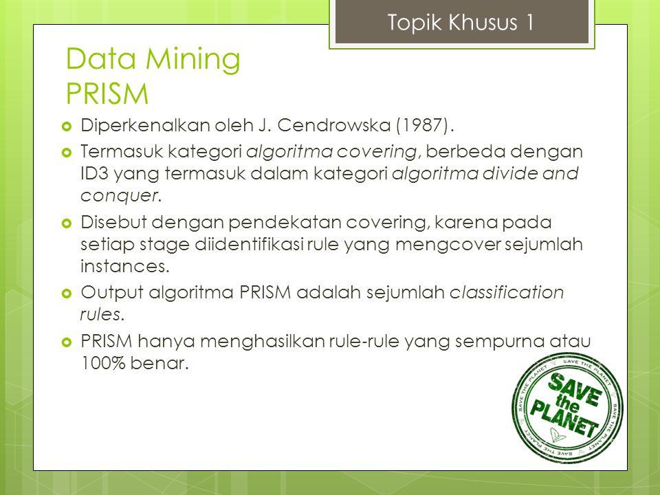 Data Mining PRISM Topik Khusus 1