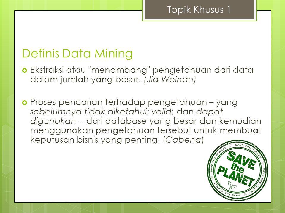 Definis Data Mining Topik Khusus 1