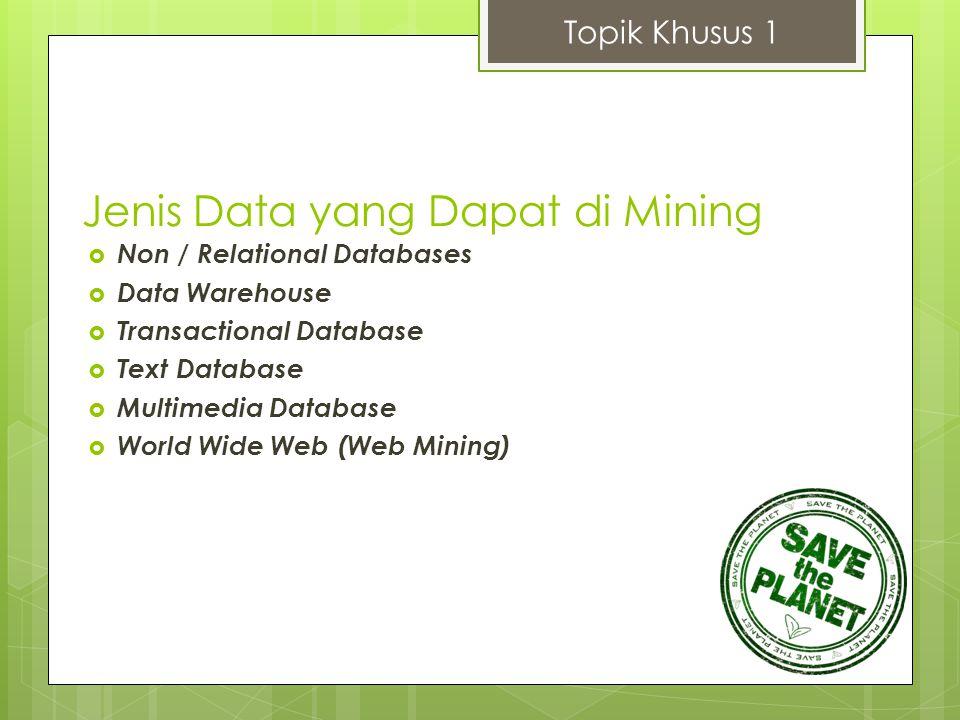 Jenis Data yang Dapat di Mining