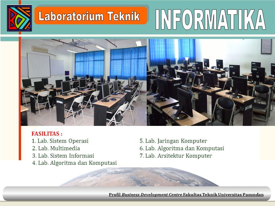 INFORMATIKA Laboratorium Teknik FASILITAS :