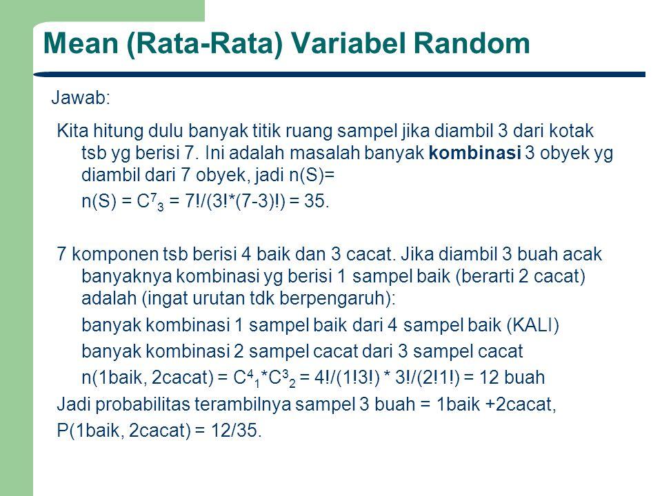 Mean (Rata-Rata) Variabel Random