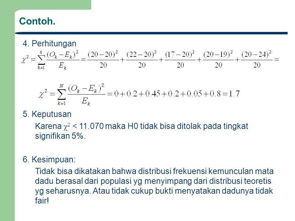 Contoh. 4. Perhitungan 5. Keputusan