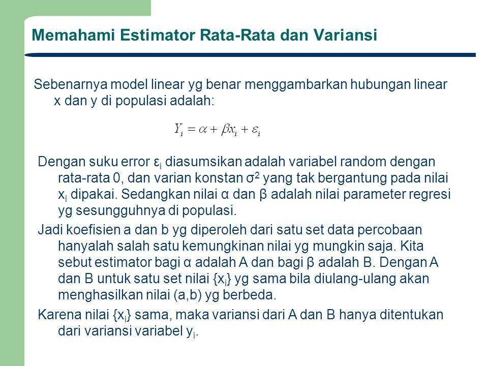 Memahami Estimator Rata-Rata dan Variansi