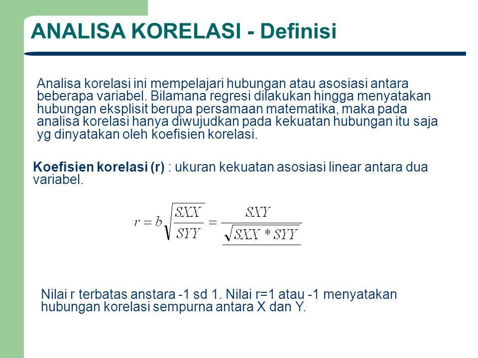 ANALISA KORELASI - Definisi