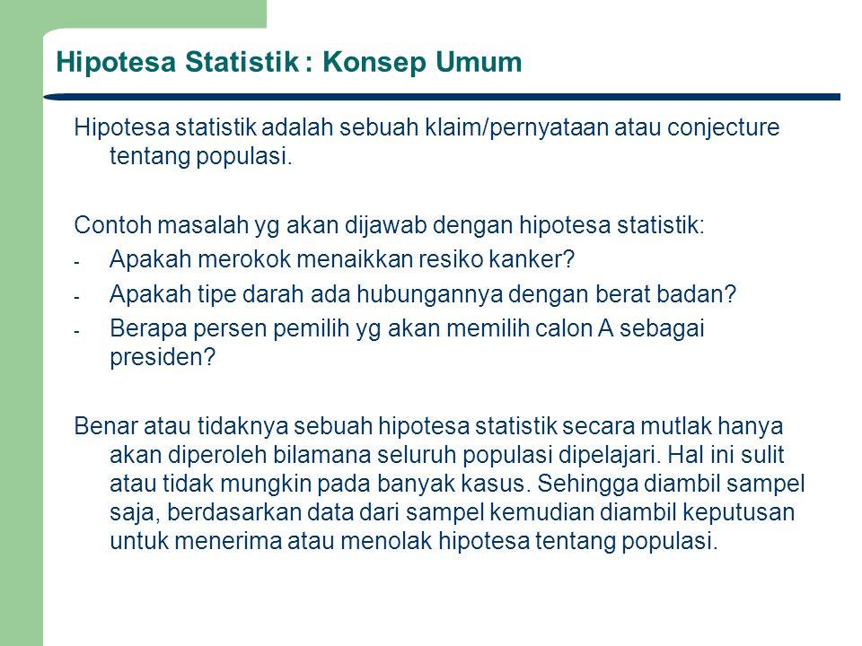 Hipotesa Statistik : Konsep Umum
