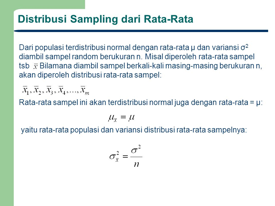 Distribusi Sampling dari Rata-Rata