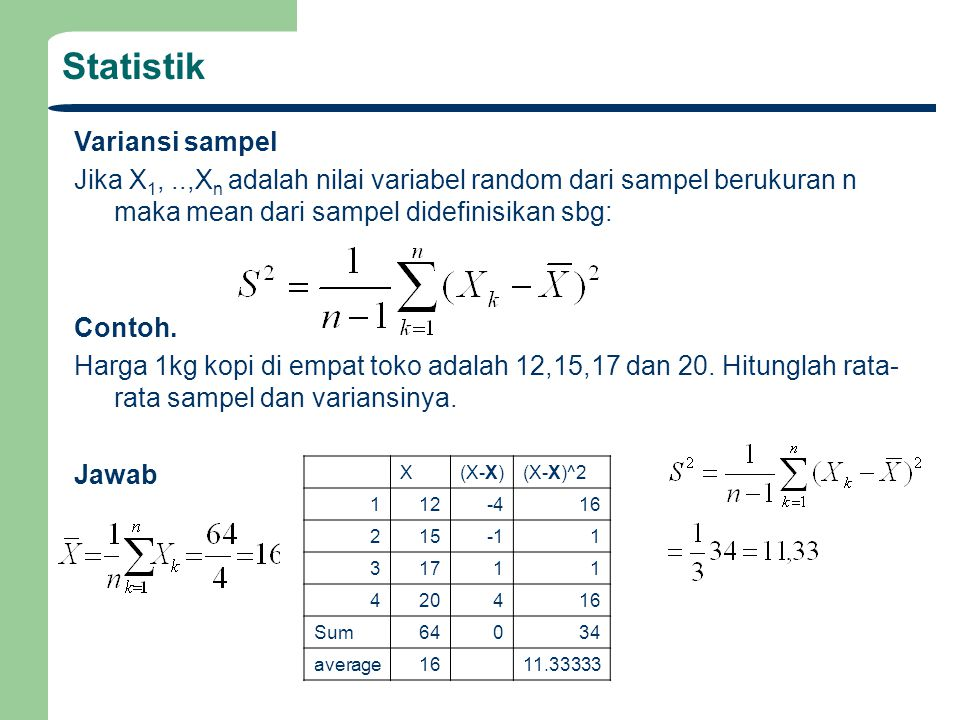 Statistik Variansi sampel