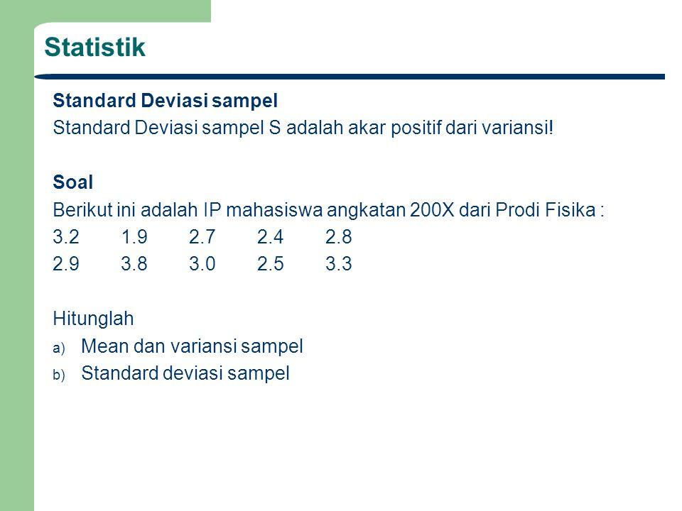 Statistik Standard Deviasi sampel