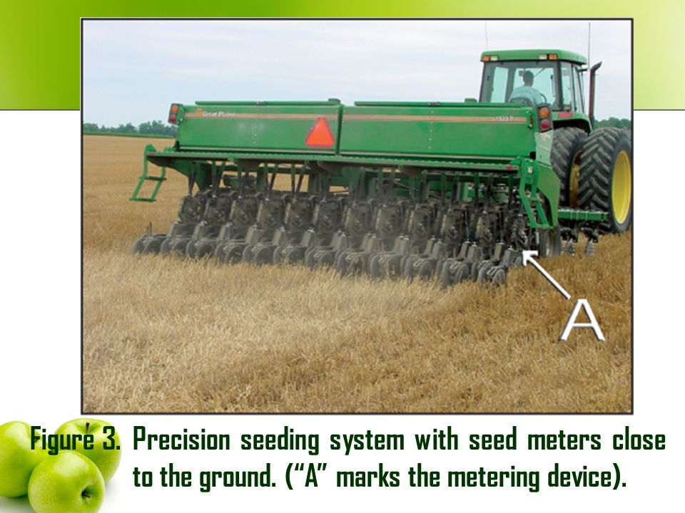 Figure 3. Precision seeding system with seed meters close to the ground.