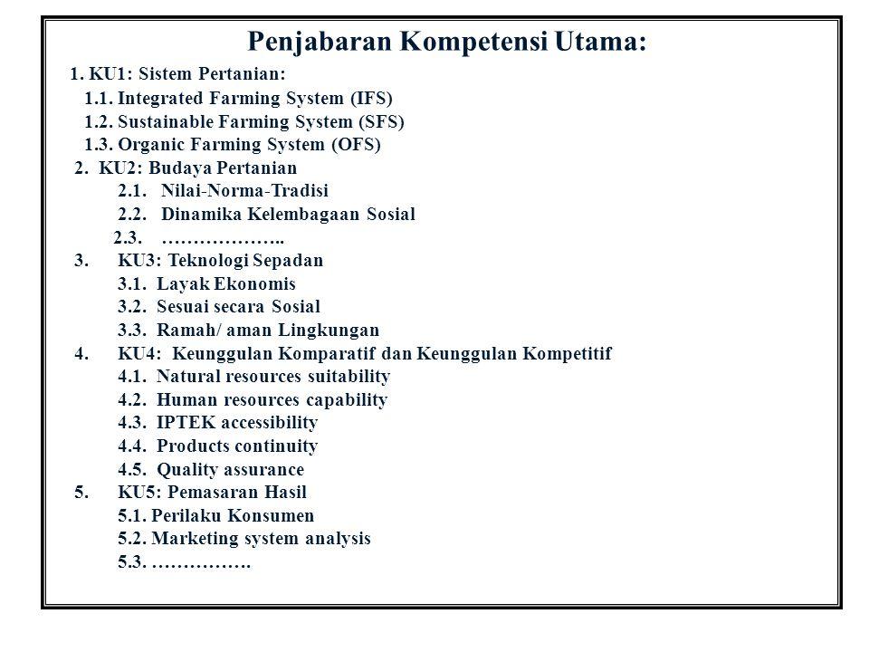 Penjabaran Kompetensi Utama: