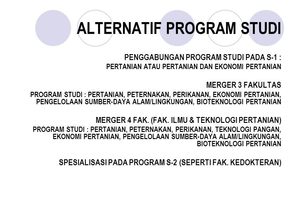 ALTERNATIF PROGRAM STUDI