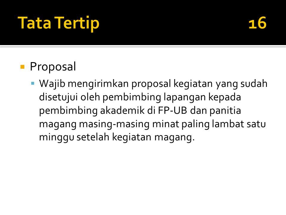 Tata Tertip 16 Proposal.