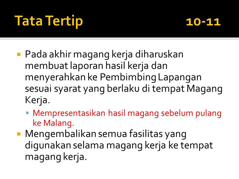 Tata Tertip 10-11