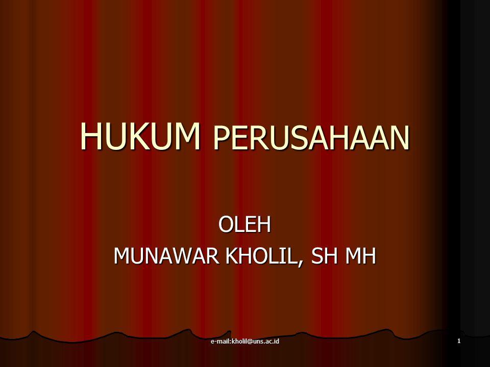 OLEH MUNAWAR KHOLIL, SH MH