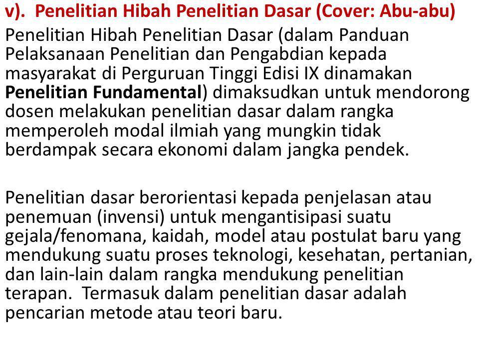 v). Penelitian Hibah Penelitian Dasar (Cover: Abu-abu)