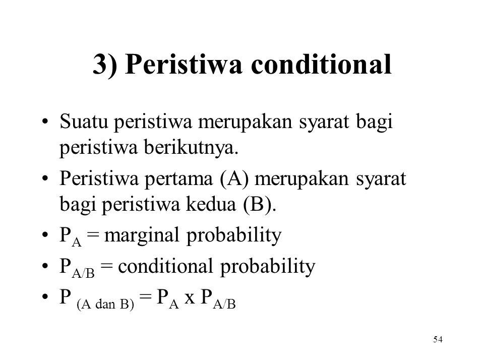 3) Peristiwa conditional