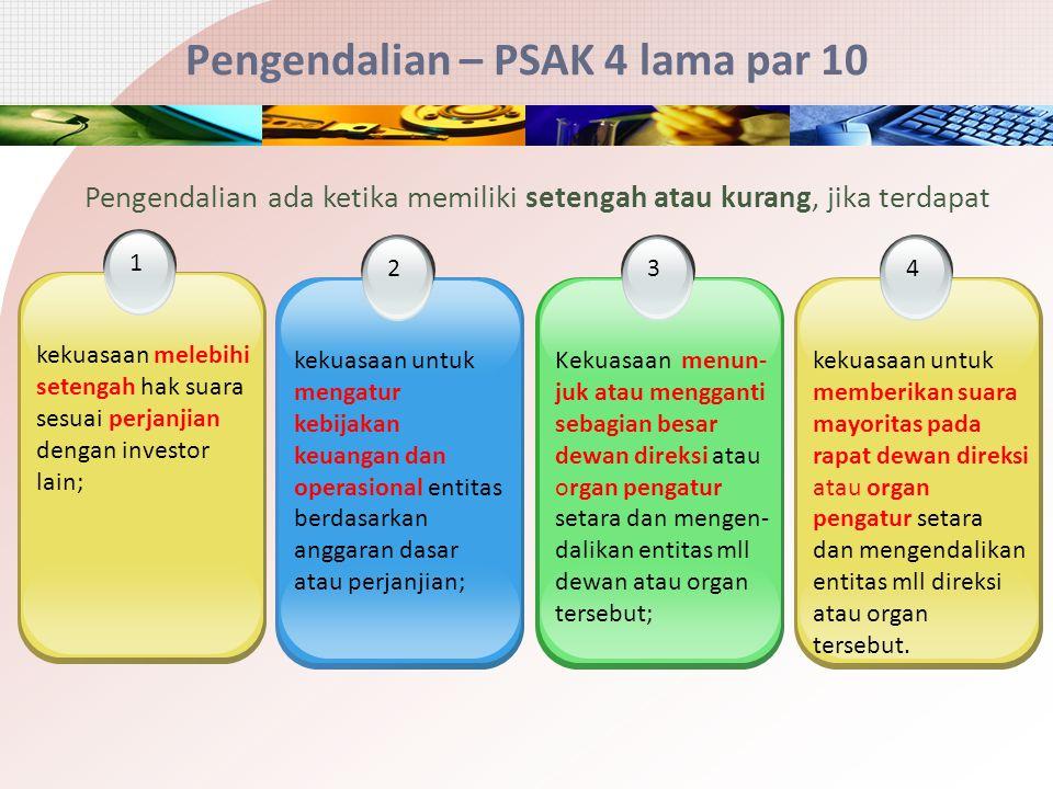 Pengendalian – PSAK 4 lama par 10