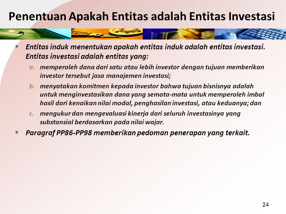 Penentuan Apakah Entitas adalah Entitas Investasi